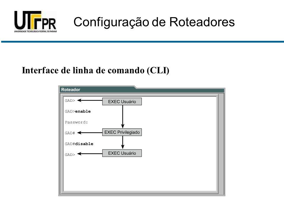Interface de linha de comando (CLI) Configuração de Roteadores