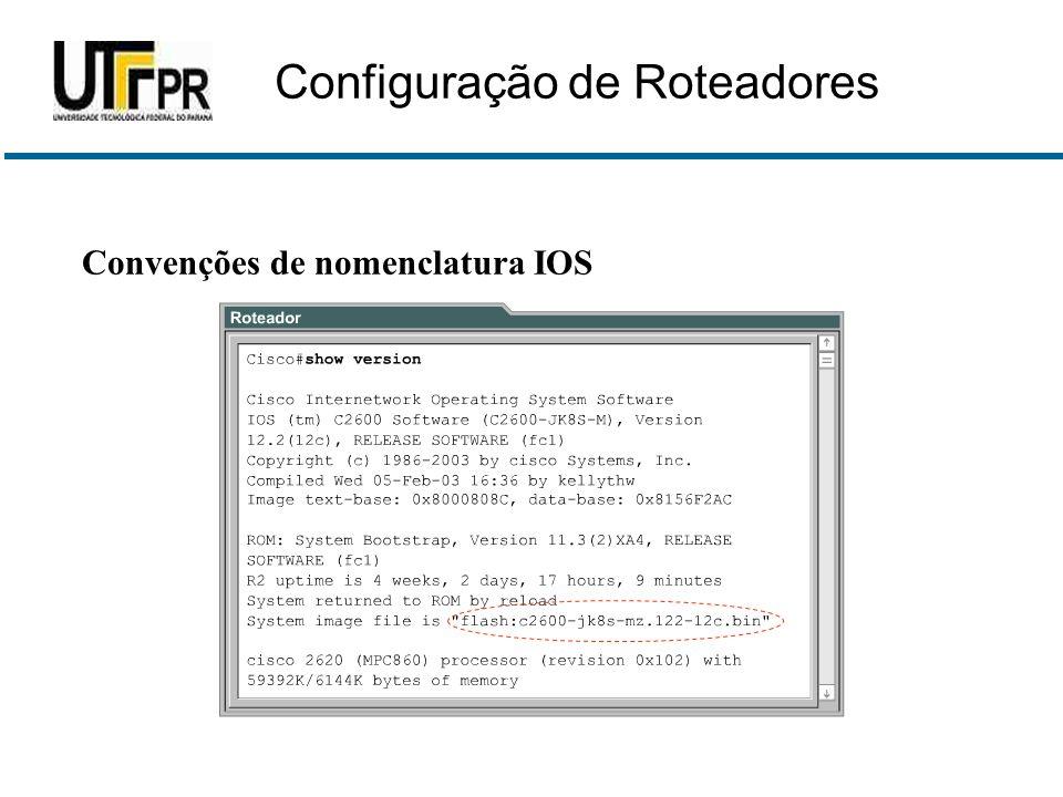 Convenções de nomenclatura IOS Configuração de Roteadores