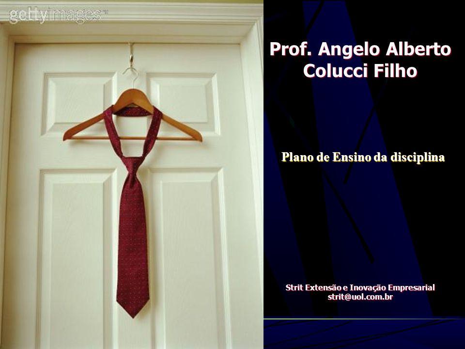 Prof.Angelo Alberto Colucci Filho Strit Extensão e Inovação Empresarial strit@uol.com.br Prof.