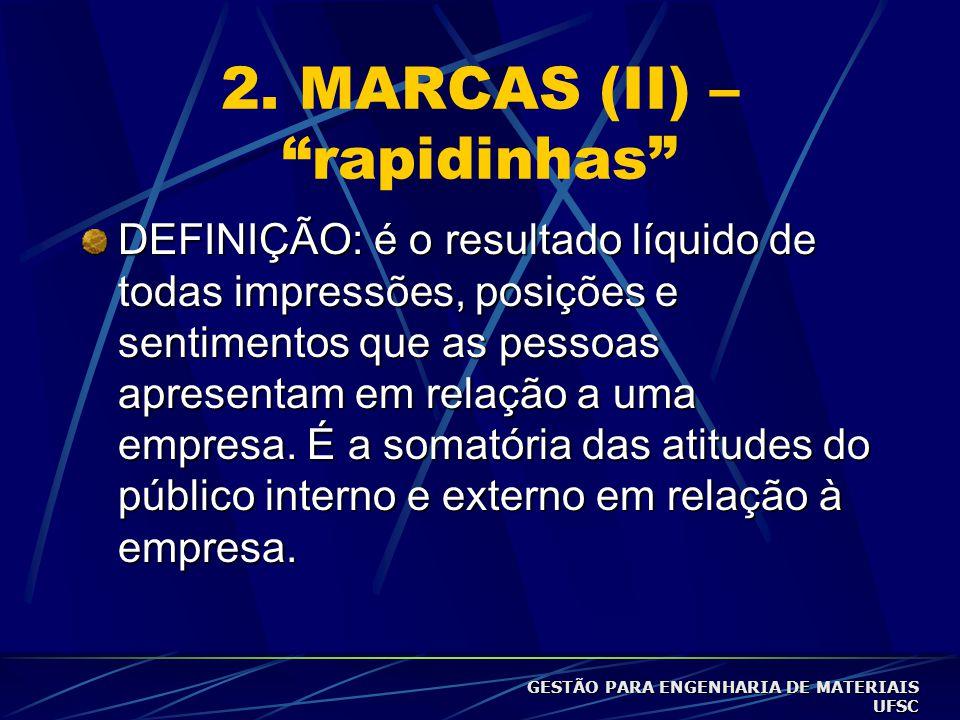 """2. MARCAS (I) – """"rapidinhas"""" Marcas valorizam o produto. Ex. perfumes sem marcas não valem muito. """"A propaganda (promoção e embalagem, também) é um in"""