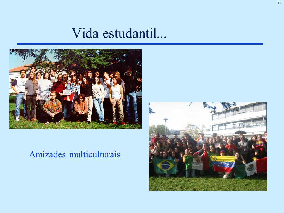 17 Vida estudantil... Amizades multiculturais