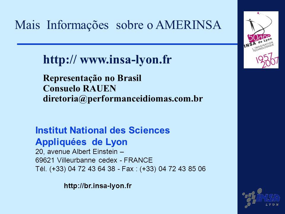20 Institut National des Sciences Appliquées de Lyon 20, avenue Albert Einstein – 69621 Villeurbanne cedex - FRANCE Tél. (+33) 04 72 43 64 38 - Fax :