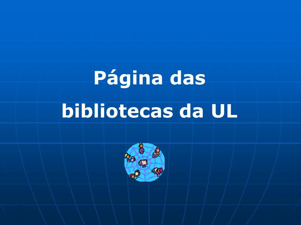 Página das bibliotecas da UL