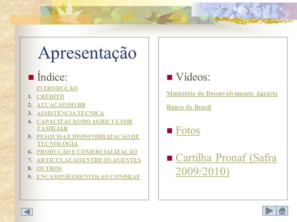 PROCESSO DE DISPONIBILIZAÇÃO DE TECNOLOGIAS DE PRODUÇÃO E GESTÃO PARA A AGRICULTURA FAMILIAR E O PAPEL DO BANCO DO BRASIL A importância da agricultura familiar para o País A agricultura familiar é, conforme o Censo Agropecuário 2006, a principal geradora de emprego no meio rural brasileiro, envolvendo mais de 12 milhões de pessoas no campo, correspondendo a mais de 74% da população agrícola.