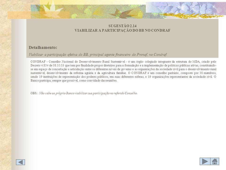 CONDRAF - Conselho Nacional do Desenvolvimento Rural Sustentável - é um órgão colegiado integrante da estrutura do MDA, criado pelo Decreto 4.854 de 0