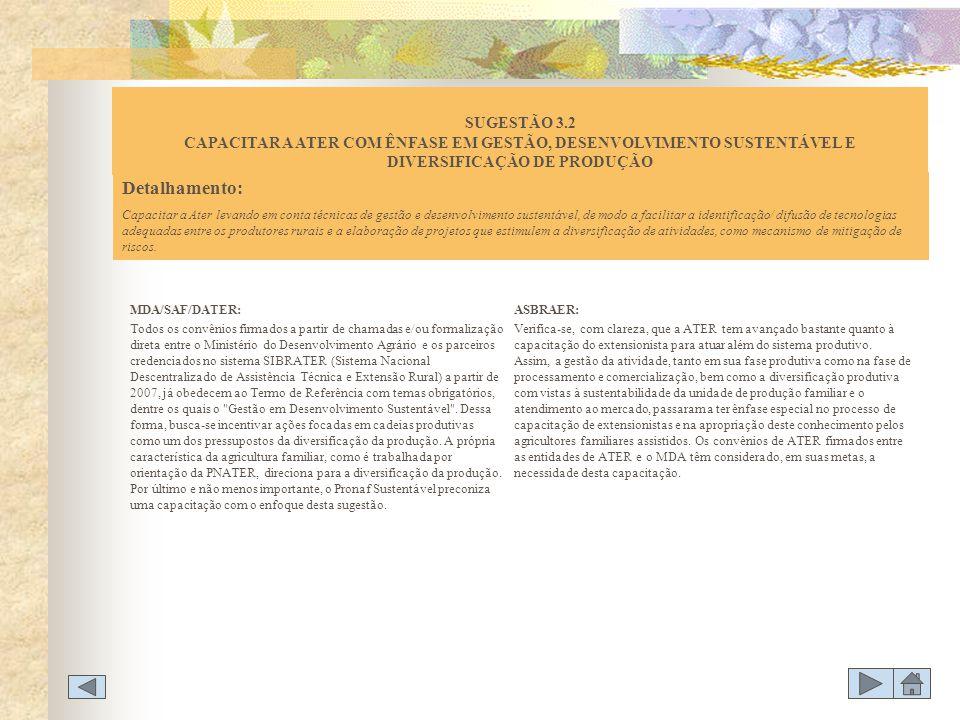 MDA/SAF/DATER: Todos os convênios firmados a partir de chamadas e/ou formalização direta entre o Ministério do Desenvolvimento Agrário e os parceiros