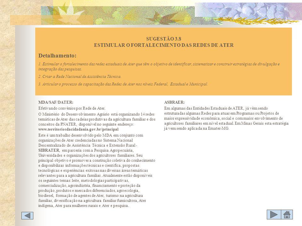 MDA/SAF/DATER: Efetivando convênios por Rede de Ater. O Ministério do Desenvolvimento Agrário está organizando 14 redes temáticas de Ater das cadeias