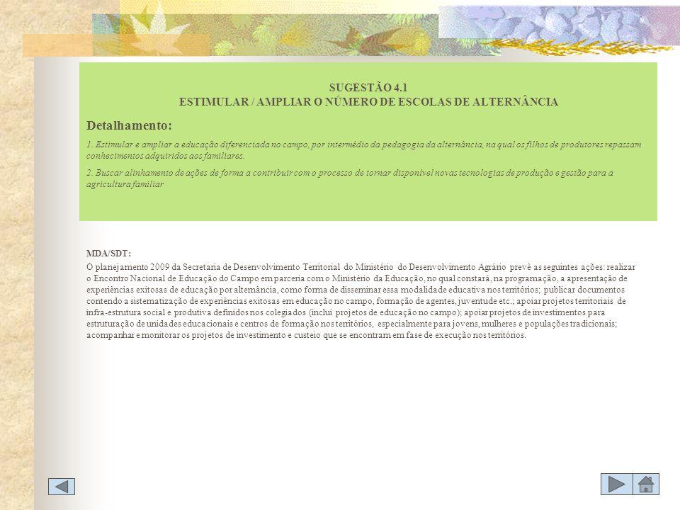 MDA/SDT: O planejamento 2009 da Secretaria de Desenvolvimento Territorial do Ministério do Desenvolvimento Agrário prevê as seguintes ações: realizar