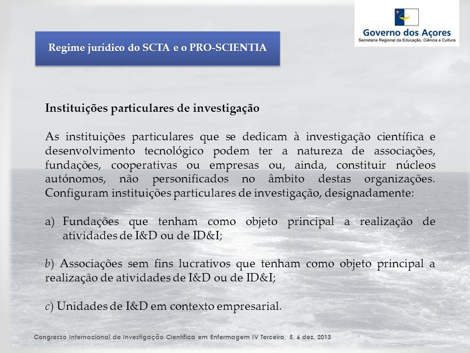Congresso Internacional de Investigação Científica em Enfermagem IV Terceira, 5, 6 dez.