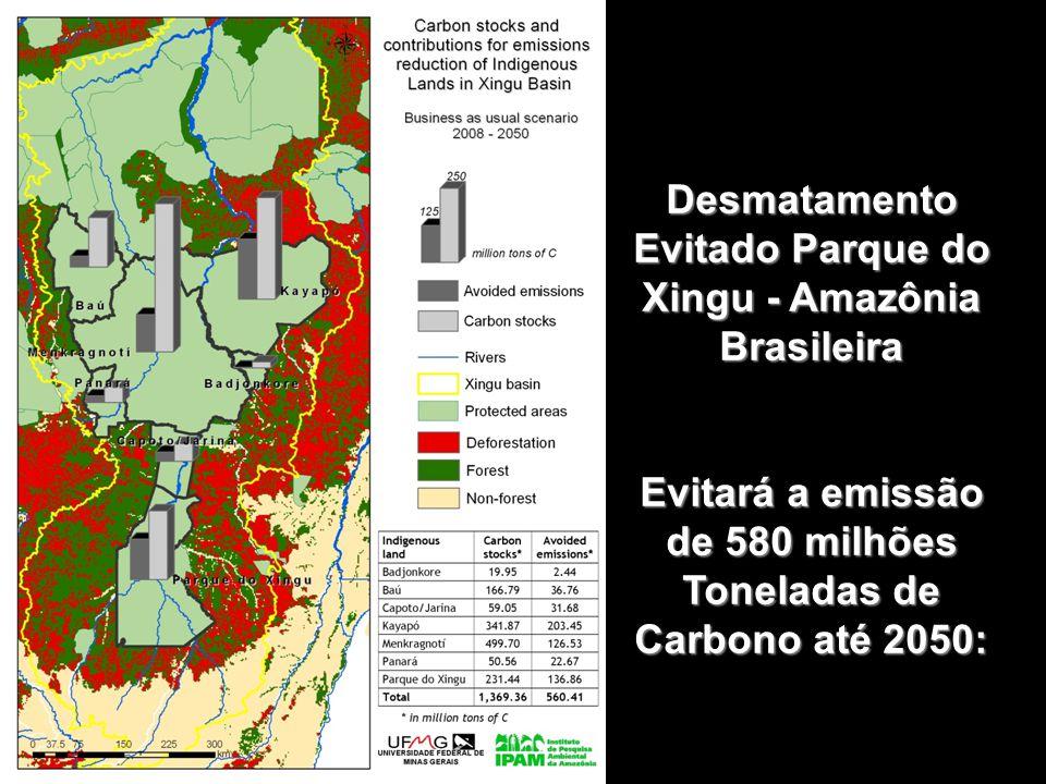 Desmatamento Evitado Parque do Xingu - Amazônia Brasileira Evitará a emissão de 580 milhões Toneladas de Carbono até 2050: