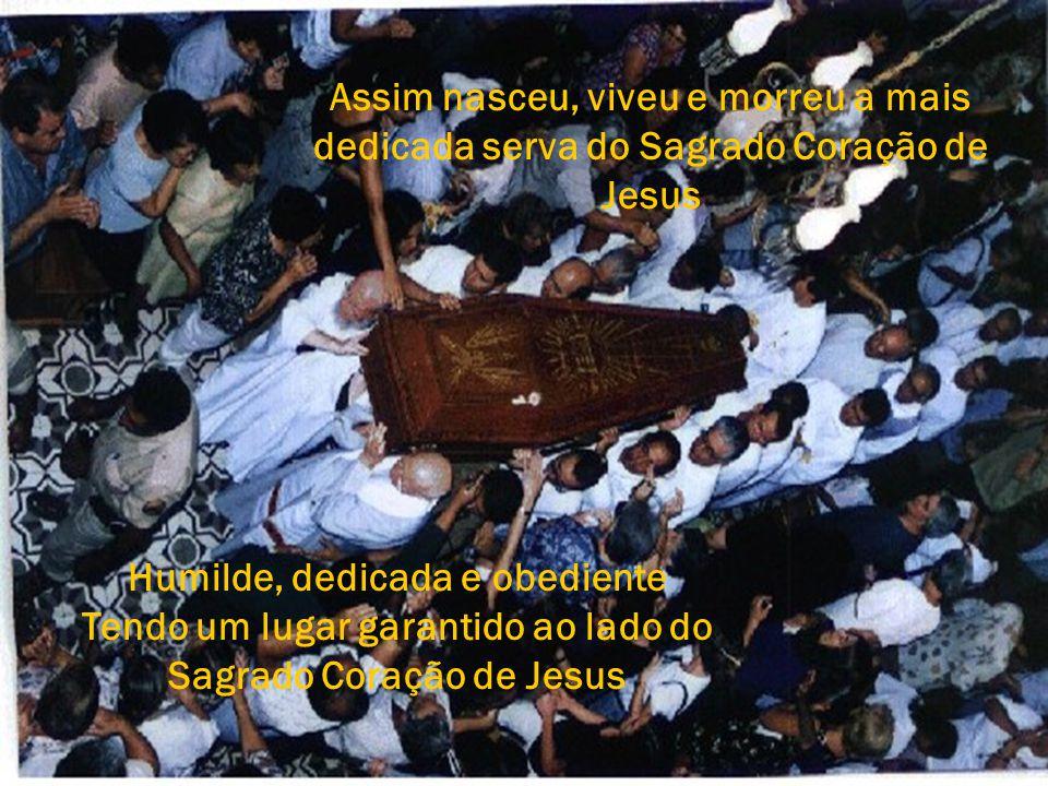"""Após sua morte, Dom Luciano, em missa celebrada na Cidade de Rio Pomba, declarou aberto o Processo de Beatificação de LOLA. """"CAUSA JUSTA E INCOSTESTÁV"""