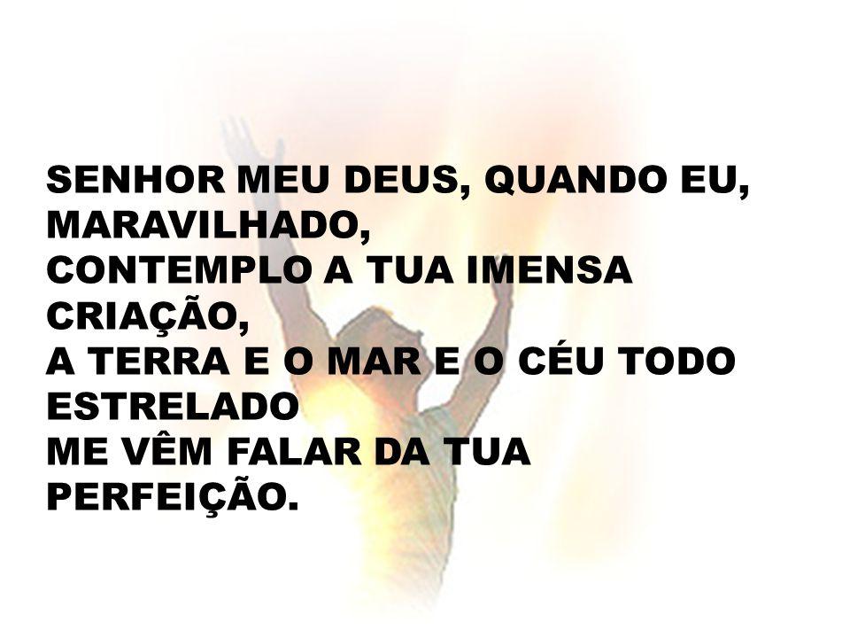 ENTÃO MINHA ALMA CANTA A TI, SENHOR: GRANDIOSO ÉS TU.