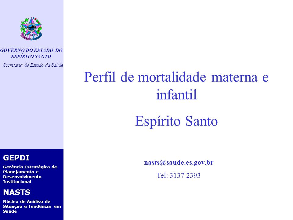 GOVERNO DO ESTADO DO ESPÍRITO SANTO Secretaria de Estado da Saúde GEPDI Gerência Estratégica de Planejamento e Desenvolvimento Institucional NASTS Núcleo de Análise de Situação e Tendência em Saúde Pirâmide etária do ES - 2006