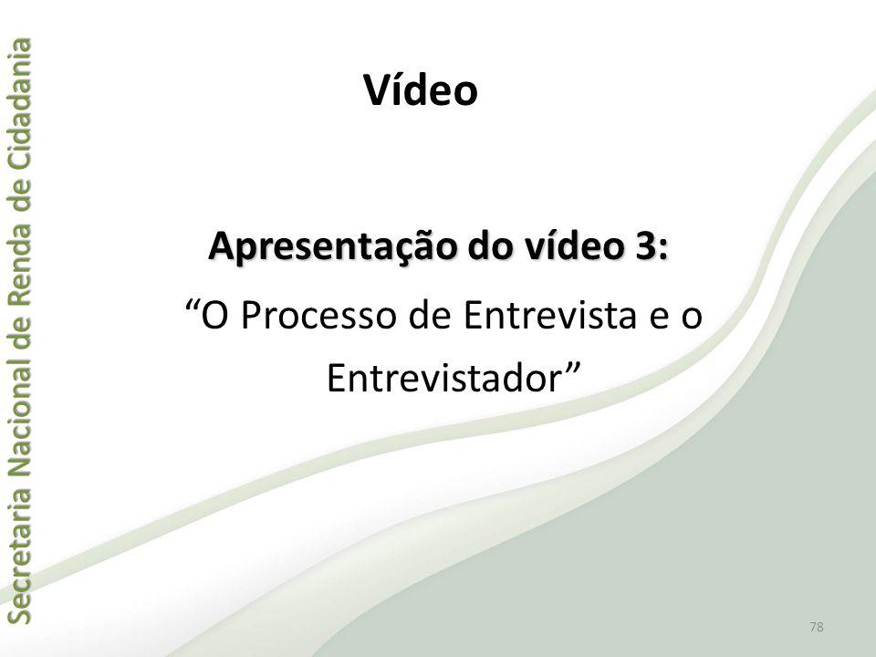 "Secretaria Nacional de Renda de Cidadania Secretaria Nacional de Renda de Cidadania Apresentação do vídeo 3: ""O Processo de Entrevista e o Entrevistad"