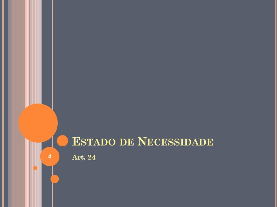 E STADO DE N ECESSIDADE Art. 24 4
