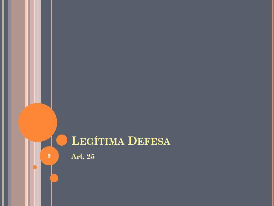 L EGÍTIMA D EFESA Art. 25 9