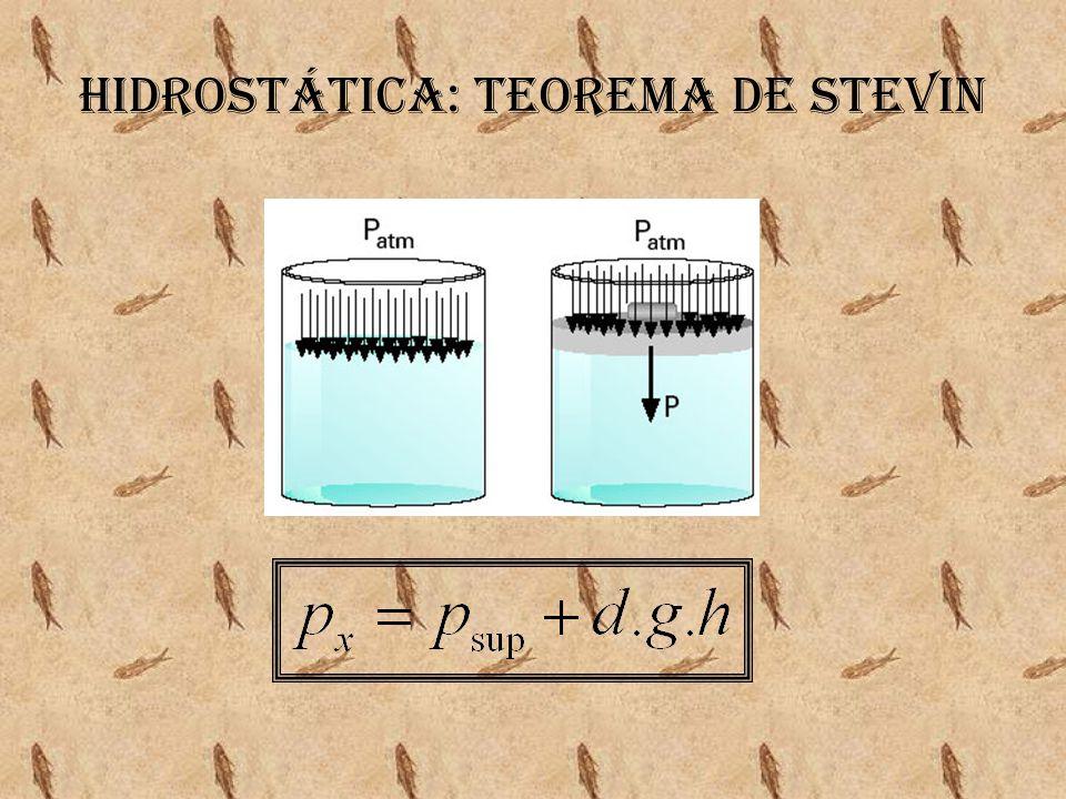 Hidrostática: Teorema de Stevin