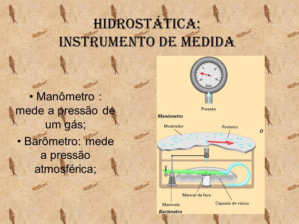 Hidrostática: Teorema de Stevin •No interior de um mesmo líquido: profundidades iguais apresentam pressões hidrostáticas iguais.