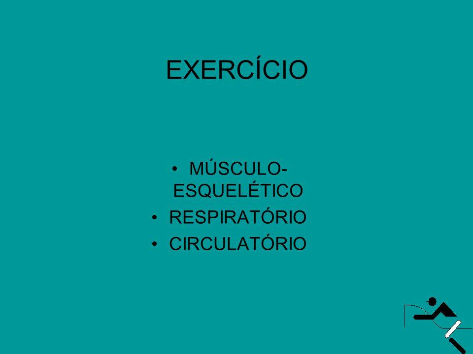 EXERCÍCIO •MÚSCULO- ESQUELÉTICO •RESPIRATÓRIO •CIRCULATÓRIO