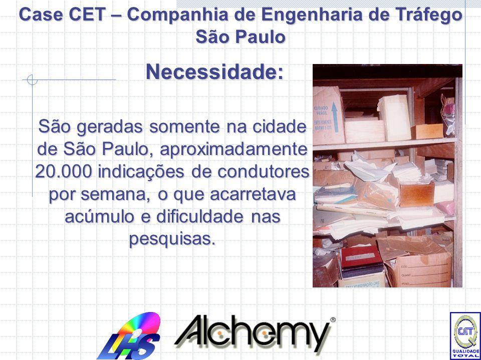 Case CET – Companhia de Engenharia de Tráfego São Paulo Indicação de condutor – São utilizados quando o infrator não é o proprietário do veículo em ca