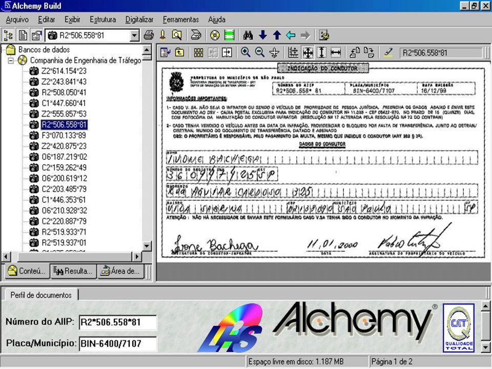 As indicações são digitalizadas e por serem formulários padrão preenchidos de forma eletrônica foi utilizado o OCR Zone do Alchemy eliminando a indexa
