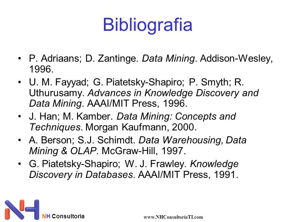 NH Consultoria www.NHConsultoriaTI.com Bibliografia •P. Adriaans; D. Zantinge. Data Mining. Addison-Wesley, 1996. •U. M. Fayyad; G. Piatetsky-Shapiro;