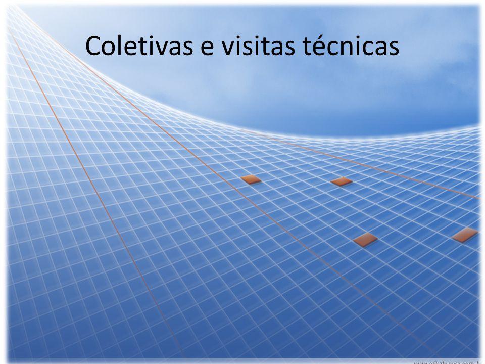 Coletivas e visitas técnicas