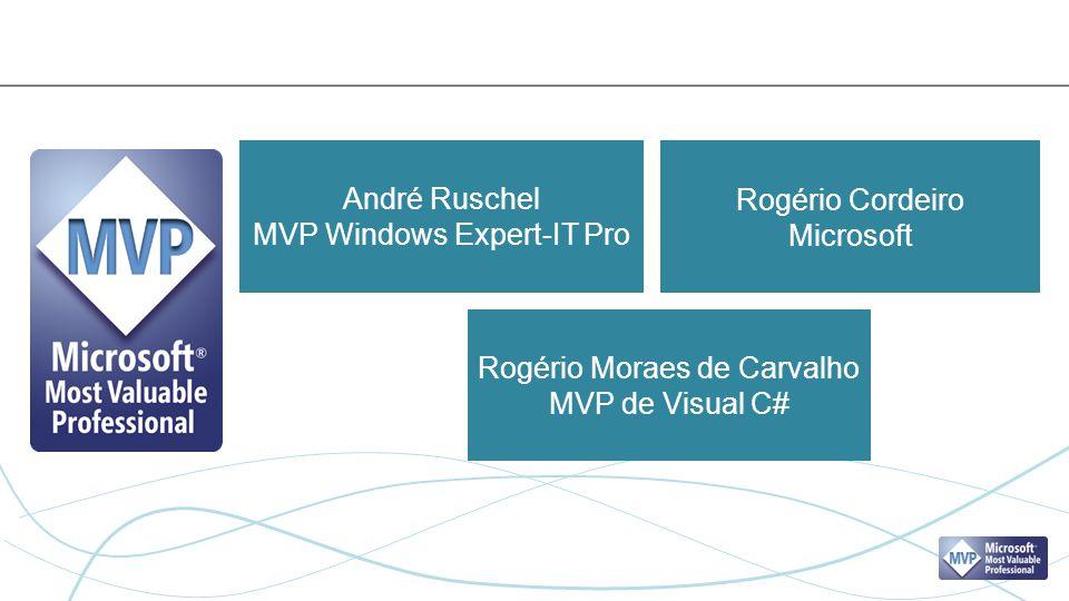André Ruschel MVP Windows Expert-IT Pro Rogério Moraes de Carvalho MVP de Visual C# Rogério Cordeiro Microsoft