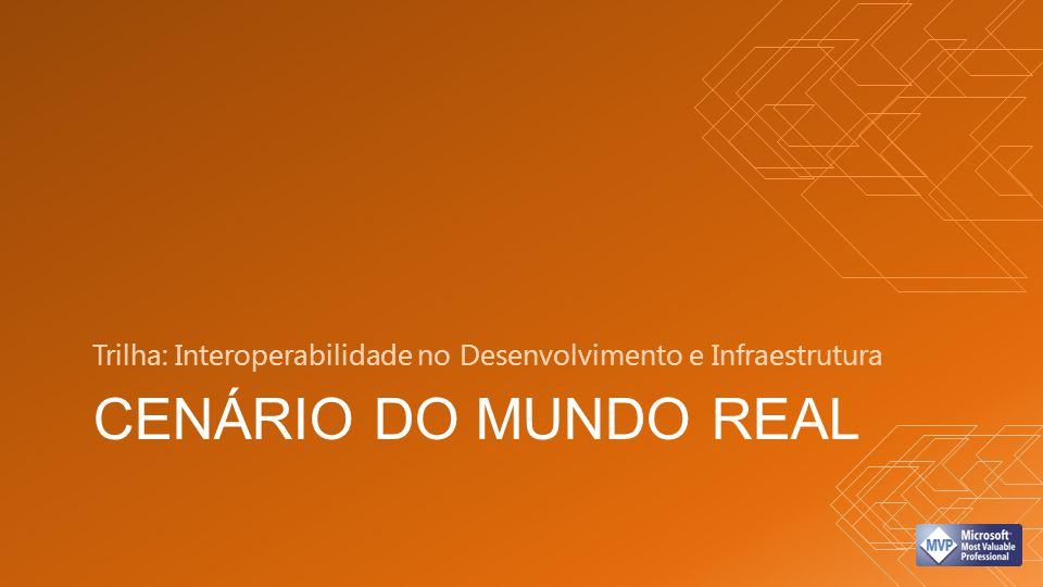CENÁRIO DO MUNDO REAL Trilha: Interoperabilidade no Desenvolvimento e Infraestrutura