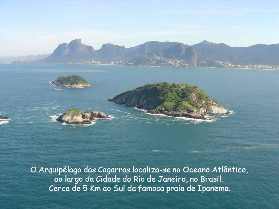O Arquipélago das Cagarras localiza-se no Oceano Atlântico, ao largo da Cidade do Rio de Janeiro, no Brasil.