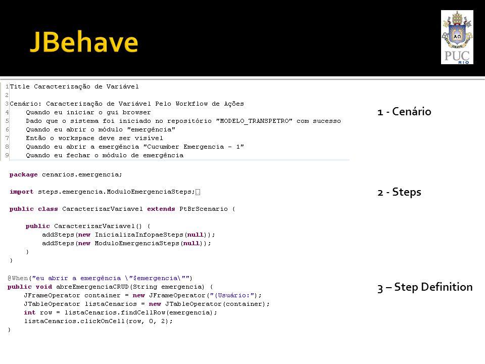 1 - Cenário 2 - Steps 3 – Step Definition