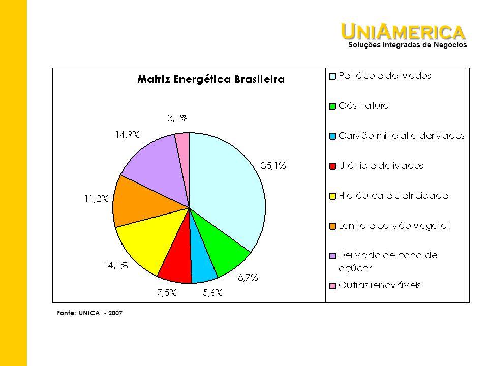 Soluções Integradas de Negócios Fonte: UNICA - 2007