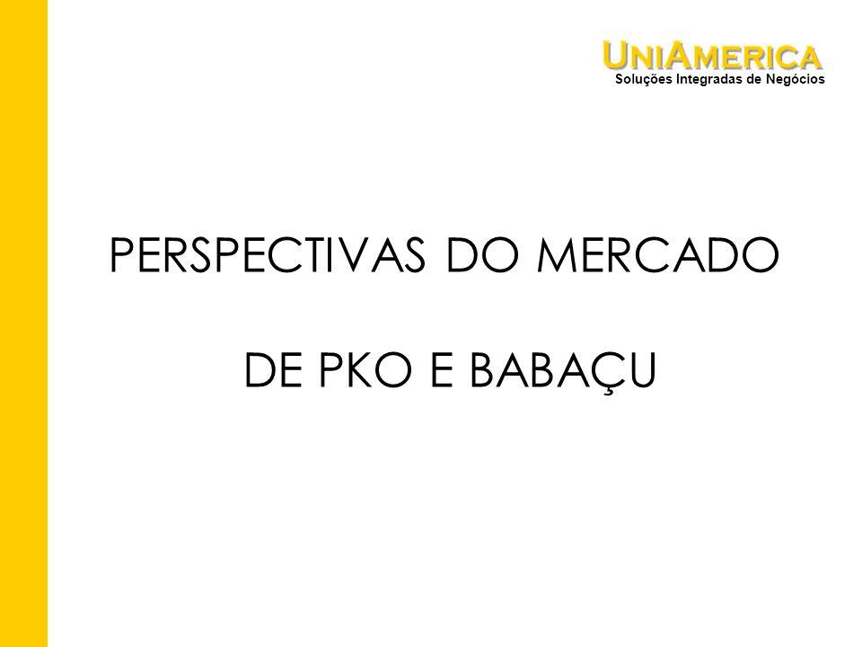 Soluções Integradas de Negócios PERSPECTIVAS DO MERCADO DE PKO E BABAÇU