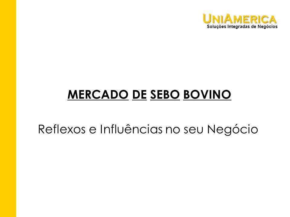Soluções Integradas de Negócios MERCADO DE SEBO BOVINO Reflexos e Influências no seu Negócio