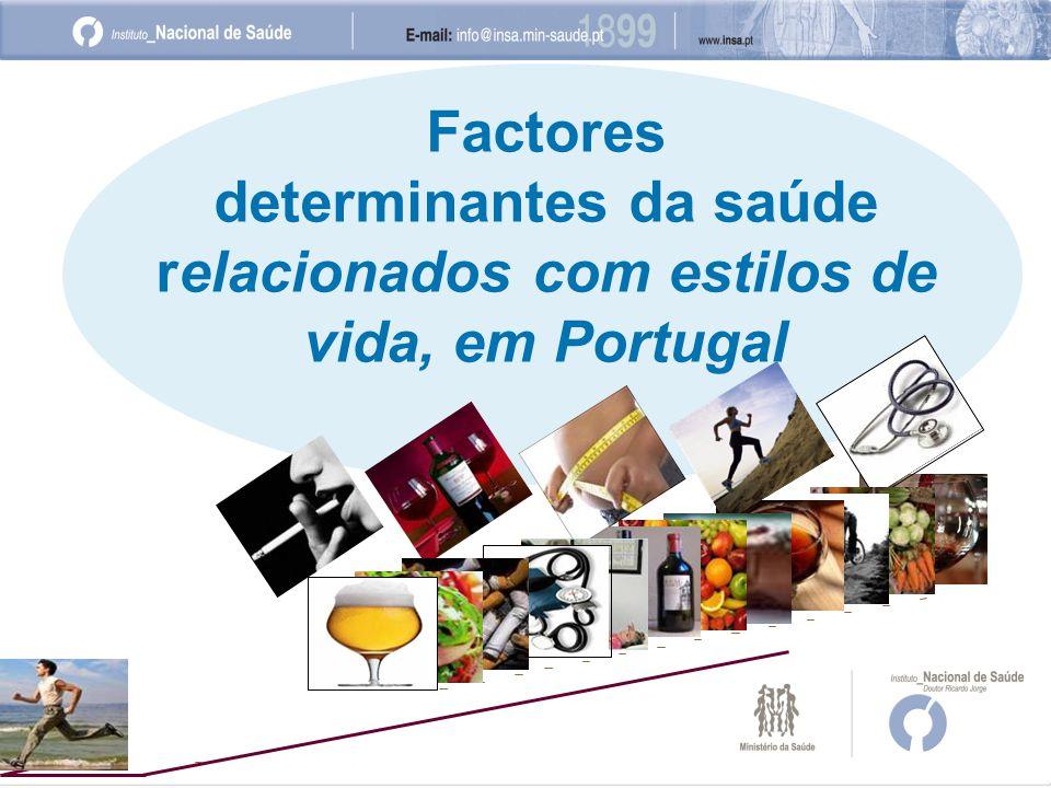 Factores determinantes da saúde relacionados com estilos de vida, em Portugal