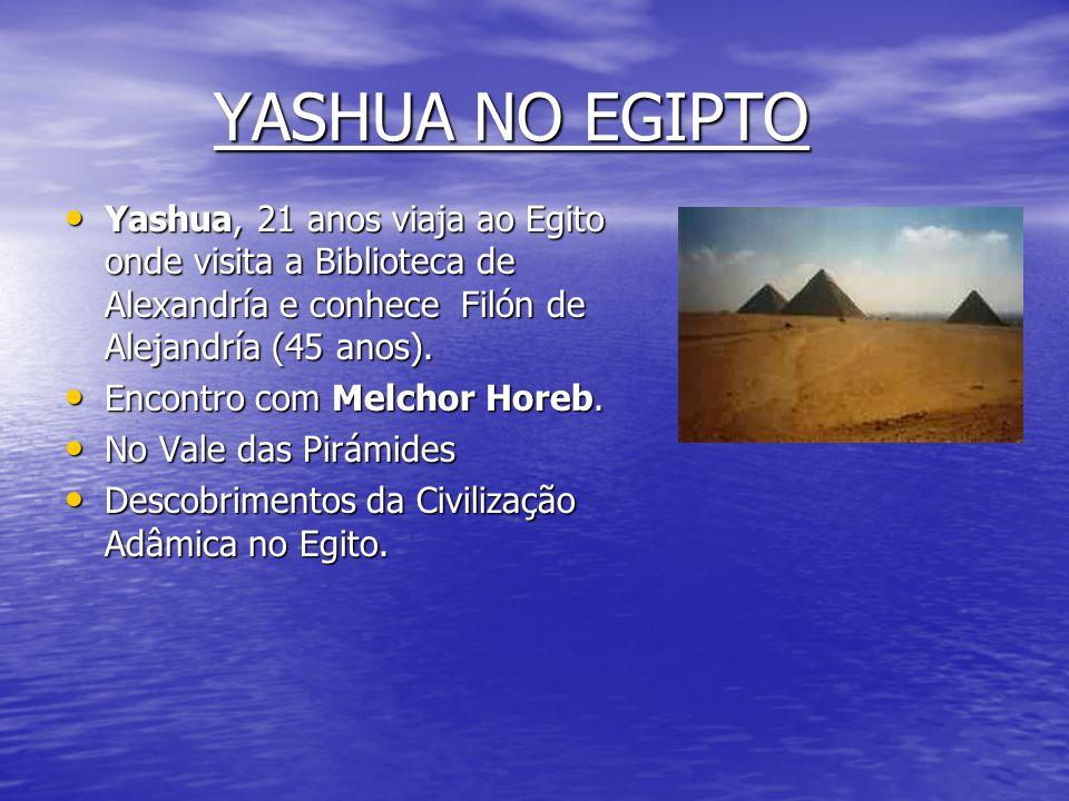 YASHUA ADULTO • 20 anos, Yashua cura um leproso. • Discurso de Yashua na tumba de David (Jerusalén), para 132 pessoas, naquele momento se inicia uma a