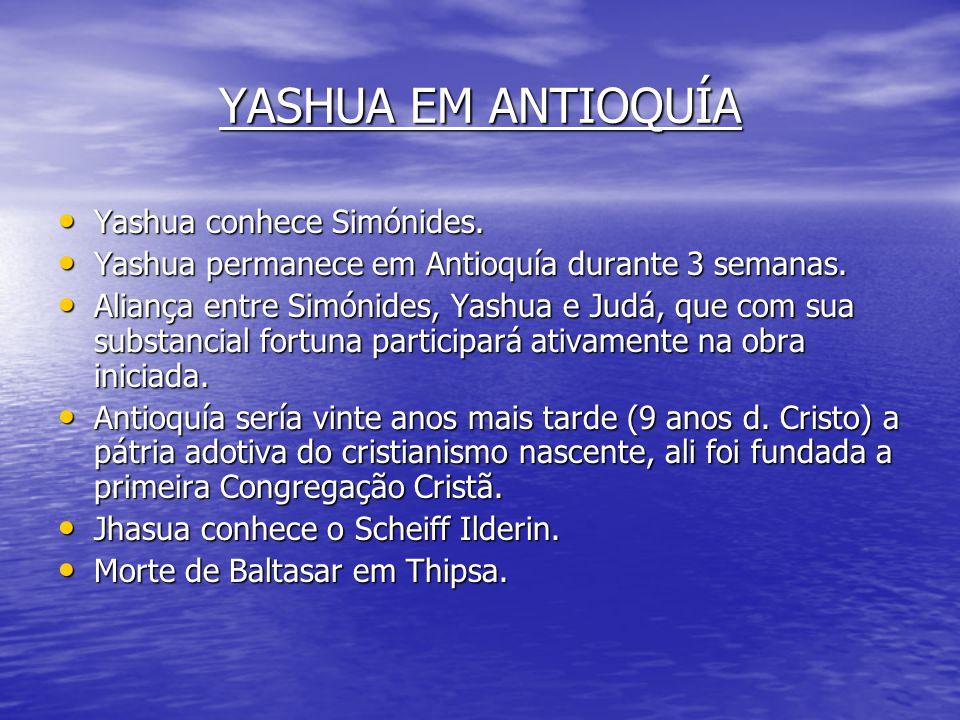 A SANTA ALIANÇA A Santa Aliança estava formada por um Conselho Supremo constituído por : Yashua, José de Arimathea, Nicodemus, Nicolás de Damasco, Gam