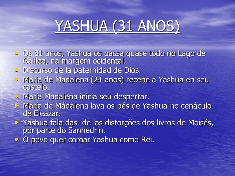 YASHUA (30 ANOS) JÁ É A HORA - Yashua reune os 12 e lhes anuncia que já é a hora de seguir-lhe. - Yashua leva os 12 ao Santuário do Tabor durante 70 d