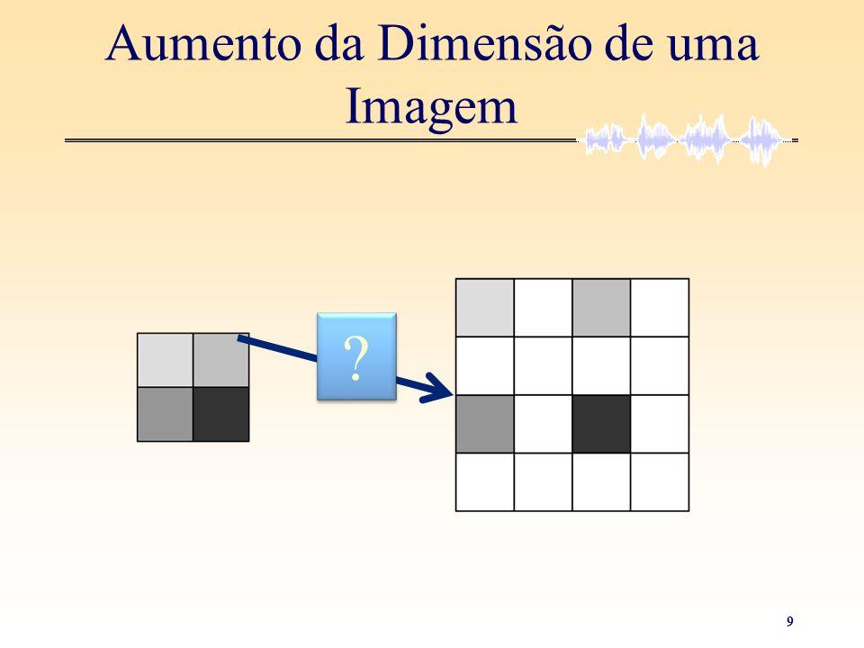 10 Aumento da Dimensão de uma Imagem • Repetição do valor dos pixéis