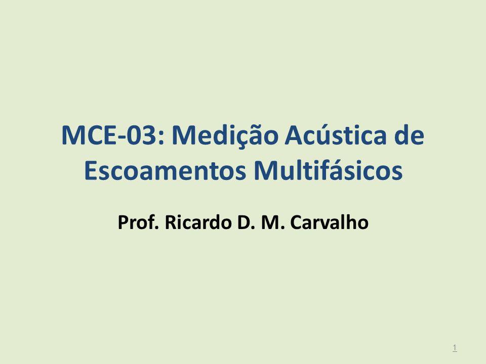 MCE-03: Medição Acústica de Escoamentos Multifásicos Prof. Ricardo D. M. Carvalho 1