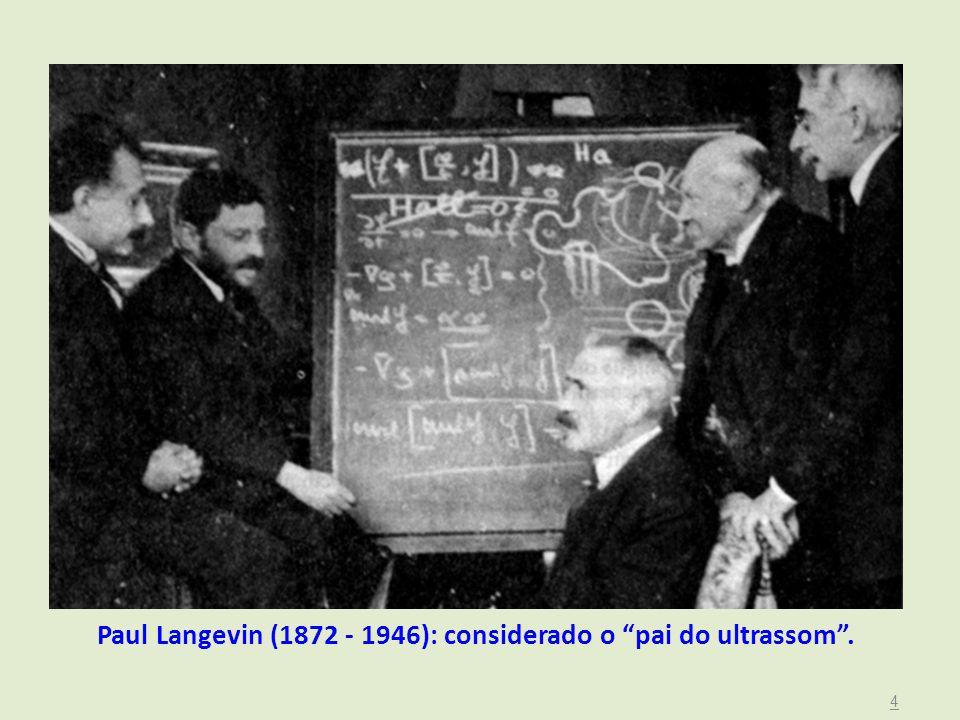 Paul Langevin (1872 - 1946): considerado o pai do ultrassom . 4