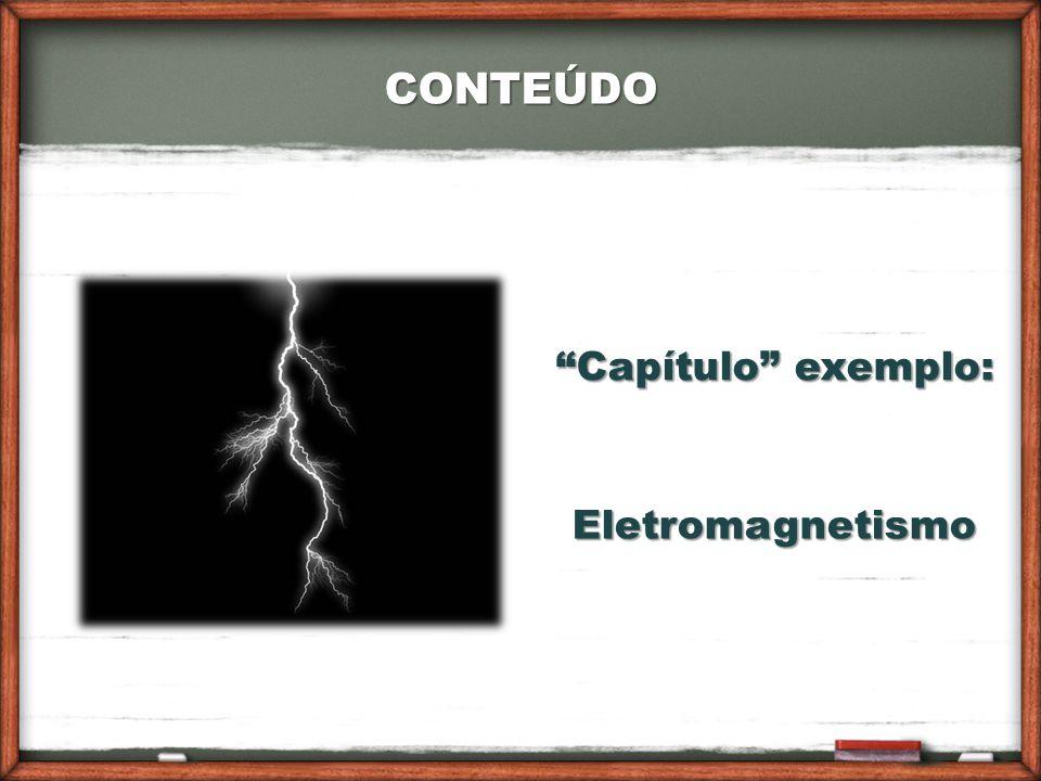 CONTEÚDO Eletromagnetismo Capítulo exemplo:
