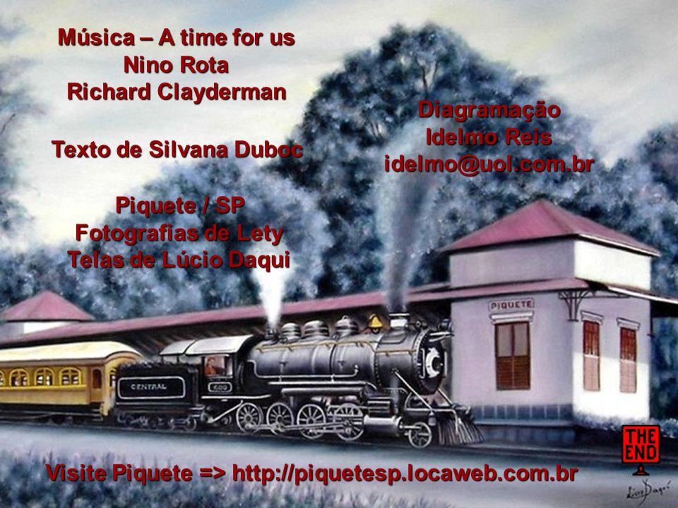Para você, que é parte do meu trem, desejo uma... Viagem Feliz...