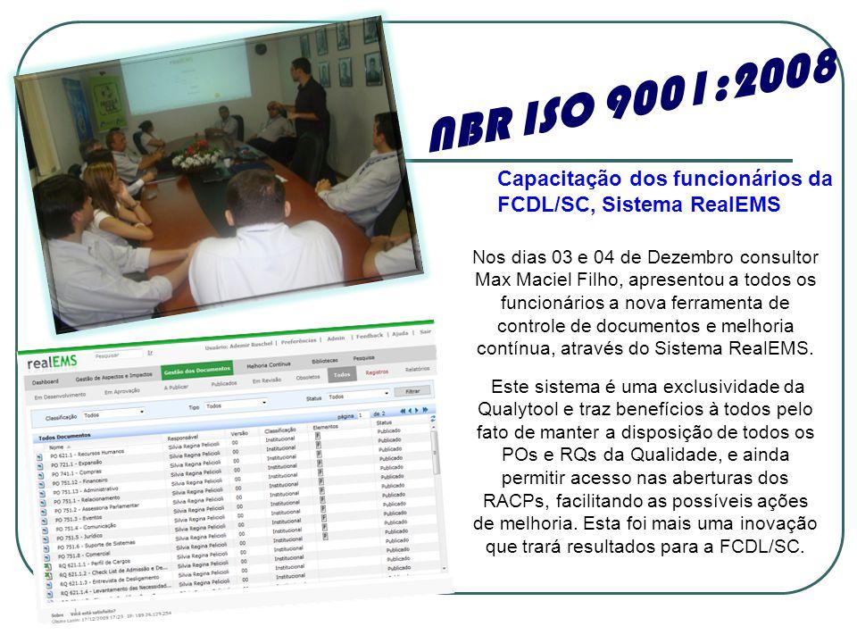 Nos dias 03 e 04 de Dezembro consultor Max Maciel Filho, apresentou a todos os funcionários a nova ferramenta de controle de documentos e melhoria contínua, através do Sistema RealEMS.