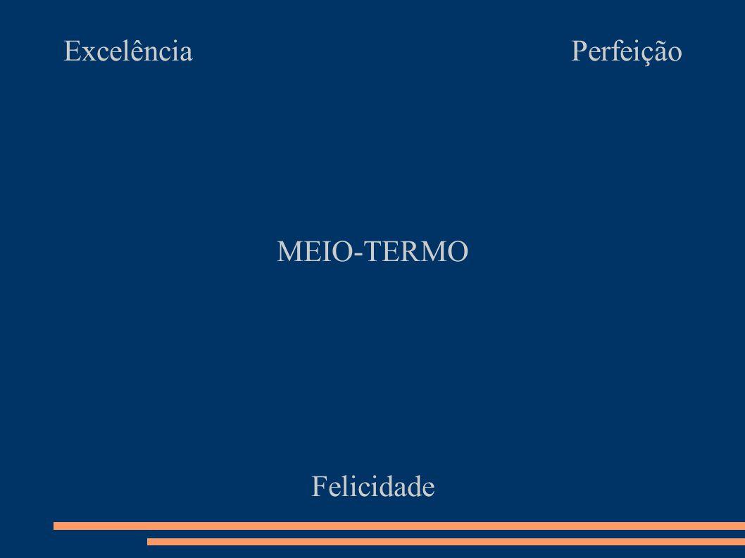 Excelência Perfeição MEIO-TERMO Felicidade