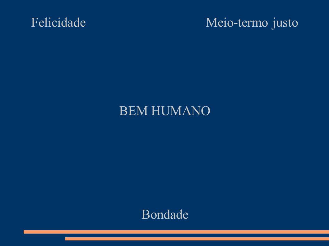 Felicidade Meio-termo justo BEM HUMANO Bondade