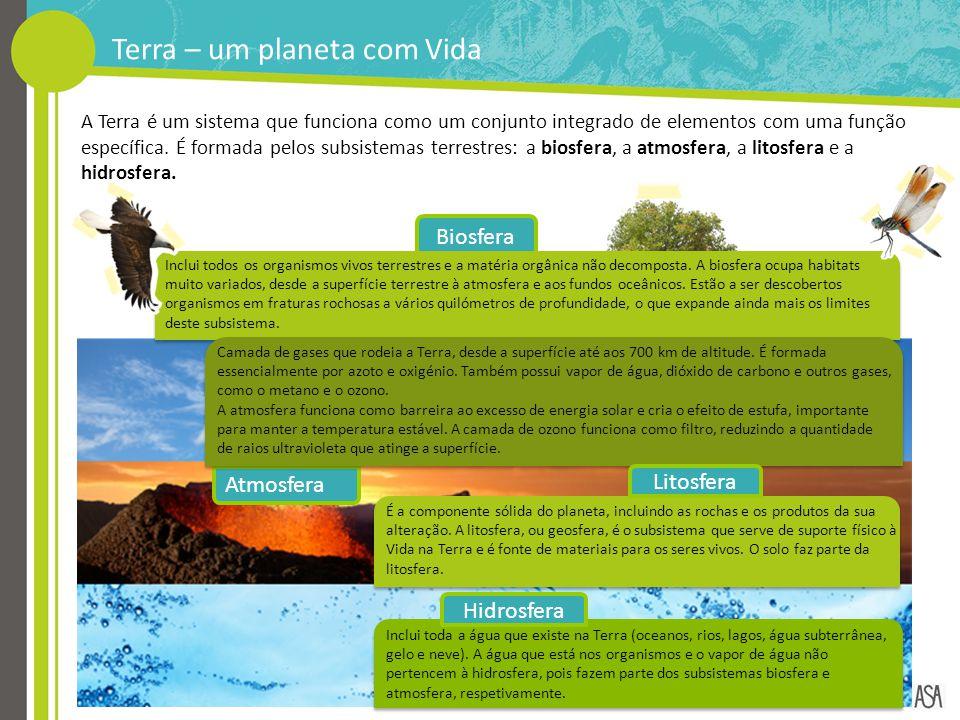 Biosfera A Terra é um sistema que funciona como um conjunto integrado de elementos com uma função específica. É formada pelos subsistemas terrestres: