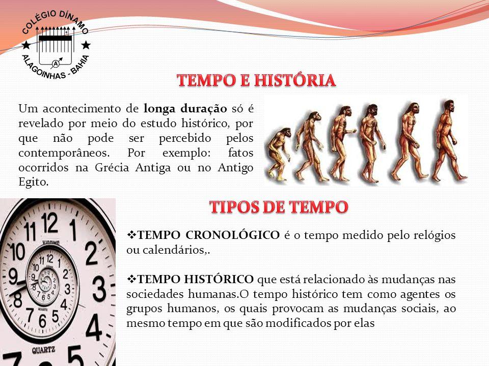 Um acontecimento de longa duração só é revelado por meio do estudo histórico, por que não pode ser percebido pelos contemporâneos.