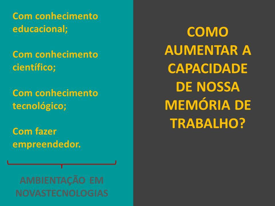 COMO AUMENTAR A CAPACIDADE DE NOSSA MEMÓRIA DE TRABALHO.