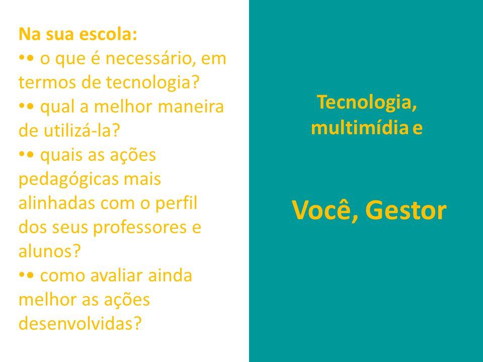 Tecnologia, multimídia e Você, Gestor Na sua escola: • • o que é necessário, em termos de tecnologia.